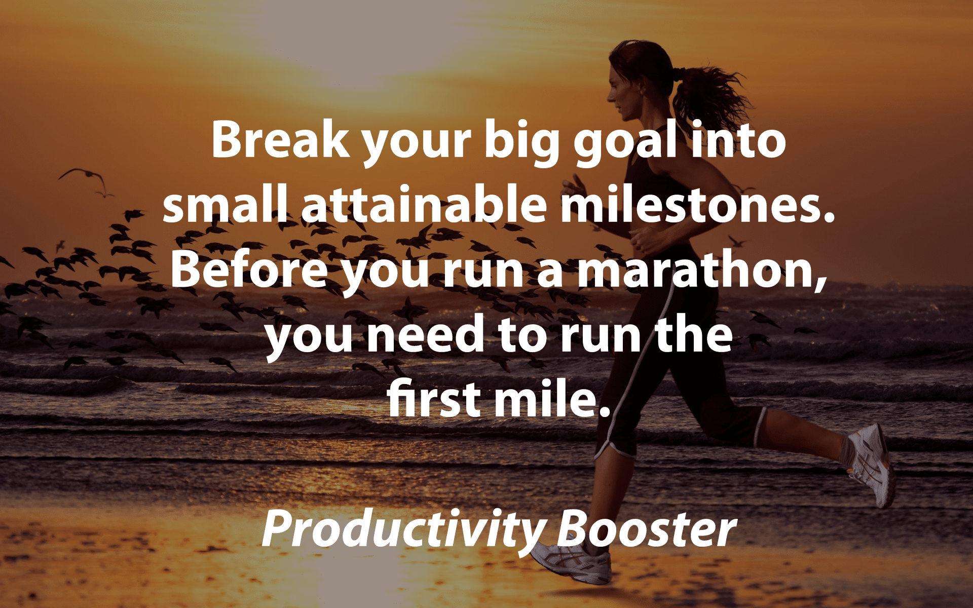break your big goal into attainable milestones