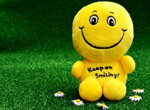 think positive and smile