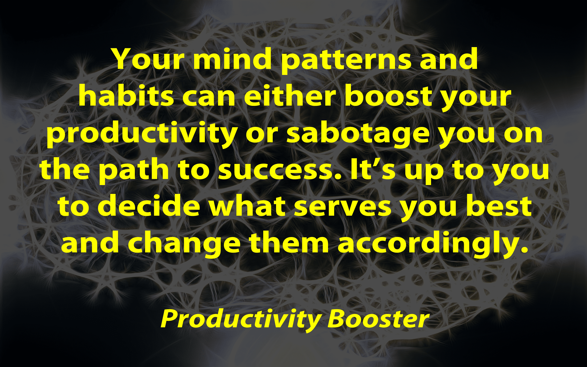 mind patterns and habits to boost productivity